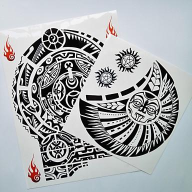 olcso Ideiglenes tetoválás-2 pcs Tetkó matricák ideiglenes tetoválás Totem sorozat Body Arts váll