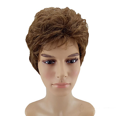 synthetic wig curly style layered haircut capless wig
