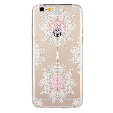 voordelige iPhone-hoesjes-hoesje Voor Apple iPhone 8 Plus / iPhone 8 / iPhone 7 Plus Patroon Achterkant Lace Printing / Bloem Zacht TPU