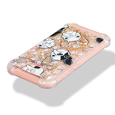voordelige Galaxy A-serie hoesjes / covers-hoesje Voor Samsung Galaxy A3 (2017) / A5 (2017) / A7 (2017) Schokbestendig / Stromende vloeistof / Patroon Achterkant Hond / Glitterglans Zacht TPU
