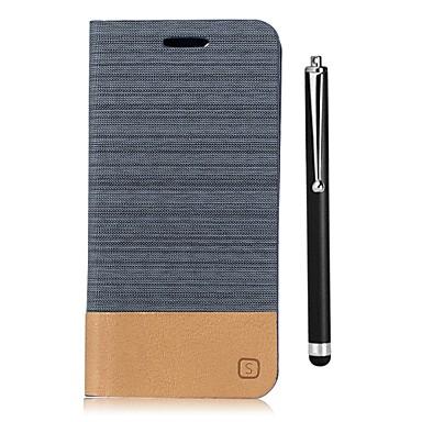 Недорогие Чехлы и кейсы для LG-Кейс для Назначение LG LG G6 / LG G5 / LG G4 Кошелек / Бумажник для карт / со стендом Чехол Однотонный Твердый Кожа PU
