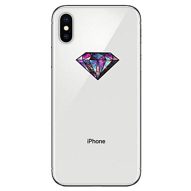 voordelige iPhone-hoesjes-hoesje Voor Apple iPhone X / iPhone 8 Plus / iPhone 8 Transparant / Patroon Achterkant Geometrisch patroon Zacht TPU