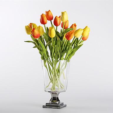 زهور اصطناعية 10 فرع الحديث الطراز الأوروبي أزهار التولب أزهار الطاولة