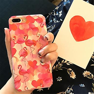 Недорогие Кейсы для iPhone 7-Кейс для Назначение Apple iPhone X / iPhone 8 Pluss / iPhone 8 С узором Кейс на заднюю панель Фламинго / Животное Твердый Акрил