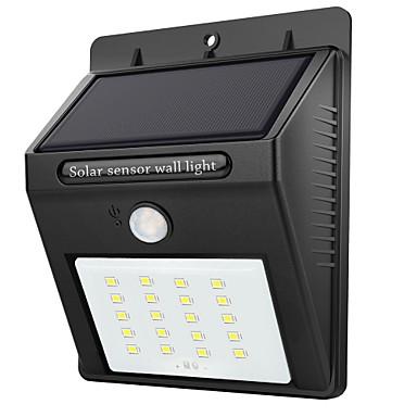 رخيصةأون أضواء خارجية-1PC 2 W أضواء شمسية LED ضد الماء / الأشعة تحت الحمراء الاستشعار / التحكم في الإضاءة أبيض 3.7 V إضاءة خارجية 20 الخرز LED