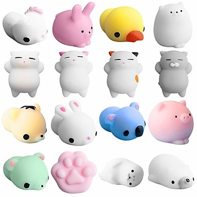 cheap Stress Relievers-LT.Squishies Squeeze Toy / Sensory Toy Animal Animal Stress and Anxiety Relief Office Desk Toys Squishy 5 pcs Adults' Toy Gift