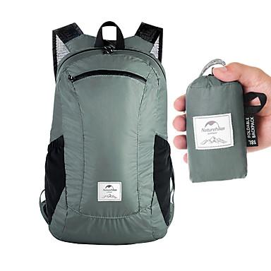 olcso Hátizsákok és táskák-Naturehike 18 L Hátizsákok Könnyű csomagolható hátizsák Könnyű Vízálló Ultra könnyű (UL) Vízálló cipzár Külső Kempingezés és túrázás Mászás Kerékpározás / Kerékpár Műanyag Fekete Kék Szürke