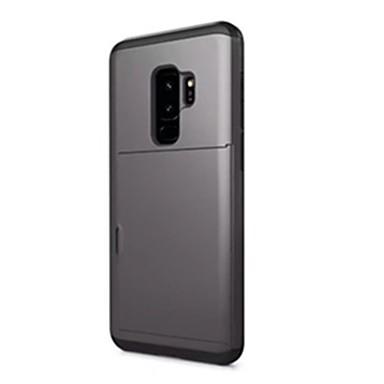 Недорогие Чехлы и кейсы для Galaxy S-Кейс для Назначение SSamsung Galaxy S9 / S9 Plus Бумажник для карт Кейс на заднюю панель Сплошной цвет Твердый ПК