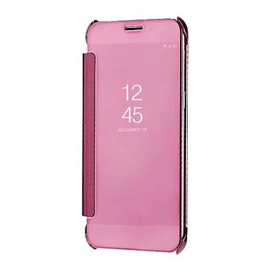Недорогие Чехлы и кейсы для Galaxy A5-Кейс для Назначение SSamsung Galaxy A5(2018) / Galaxy A7(2018) / A3 (2017) Зеркальная поверхность / Авто Режим сна / Пробуждение Чехол Однотонный Твердый ПК