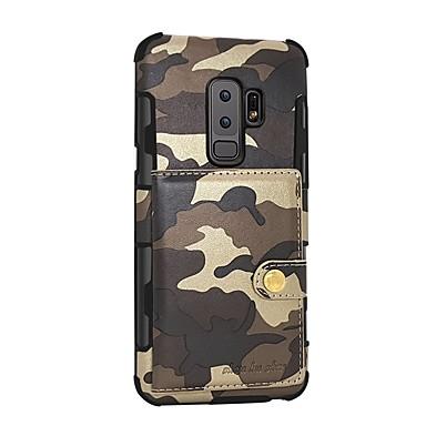 voordelige Galaxy S-serie hoesjes / covers-hoesje Voor Samsung Galaxy S9 / S9 Plus / S8 Plus Portemonnee / Magnetisch Achterkant Camouflage Kleur Hard PU-nahka