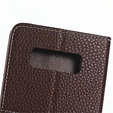 voordelige Galaxy Note-serie hoesjes / covers-hoesje Voor Samsung Galaxy Note 8 Kaarthouder / met standaard Volledig hoesje Effen Hard aitoa nahkaa