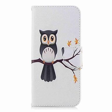 Недорогие Чехлы и кейсы для Galaxy S-Кейс для Назначение SSamsung Galaxy S9 / S9 Plus / S8 Plus Кошелек / Бумажник для карт / со стендом Чехол Сова Твердый Кожа PU