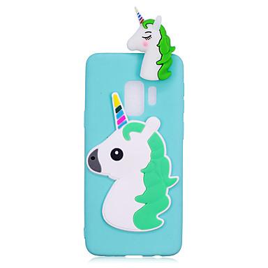 voordelige Galaxy S-serie hoesjes / covers-hoesje Voor Samsung Galaxy S9 / S9 Plus / S8 Plus Schokbestendig / DHZ Achterkant Eenhoorn / 3D Cartoon Zacht TPU