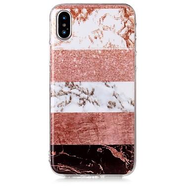 voordelige iPhone-hoesjes-hoesje Voor Apple iPhone X / iPhone 8 Plus / iPhone 8 IMD / Patroon Achterkant Glitterglans / Marmer Zacht TPU