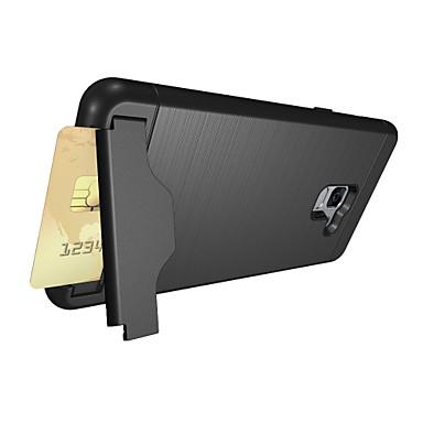 Недорогие Чехлы и кейсы для Galaxy А-Кейс для Назначение SSamsung Galaxy A8+ 2018 Бумажник для карт / со стендом Кейс на заднюю панель Сплошной цвет Твердый ПК