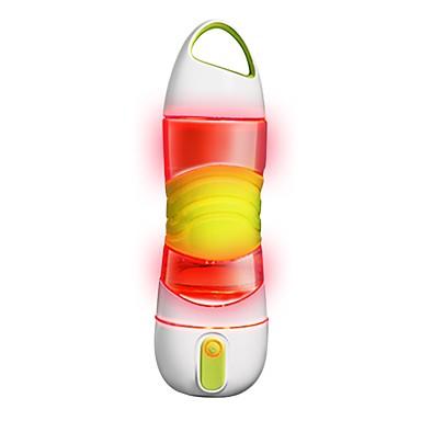 olcso Kemping konyha-0.6 L Sötétben világító Csúszásgátló BPA mentes Vészvilágítás mert 1 személy Szilícium PP+ABS Szabadtéri Kerékpár Utazás Futás Zöld Rózsaszín Szürke