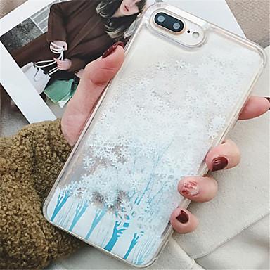 voordelige iPhone-hoesjes-hoesje Voor Apple iPhone X / iPhone 8 Plus / iPhone 8 Stromende vloeistof / Patroon Achterkant Glitterglans Zacht TPU