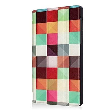 Недорогие Чехлы и кейсы для Lenovo-Кейс для Назначение Lenovo Lenovo Tab 7 со стендом / Оригами Чехол Геометрический рисунок / Эйфелева башня / Сова Твердый Кожа PU