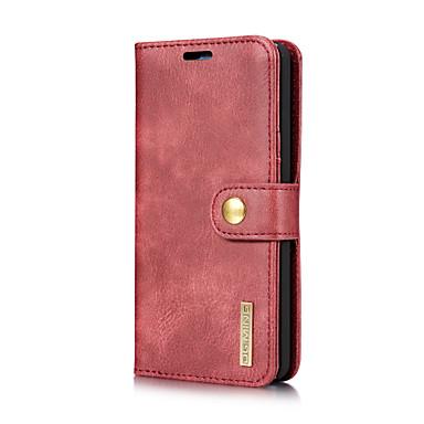 رخيصةأون LG أغطية / كفرات-DG.MING غطاء من أجل LG G6 حامل البطاقات / مع حامل / قلب غطاء كامل للجسم لون سادة قاسي جلد أصلي إلى LG G6