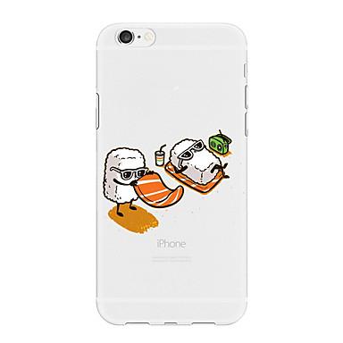 voordelige iPhone-hoesjes-hoesje Voor Apple iPhone X / iPhone 8 Plus / iPhone 8 Patroon Achterkant Voedsel / Cartoon Zacht TPU