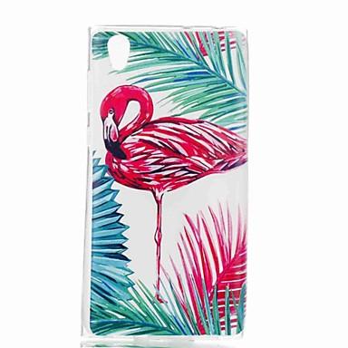 voordelige Hoesjes / covers voor Sony-hoesje Voor Sony Xperia XZ1 Compact / Sony Xperia XZ1 / Sony Xperia XA1 Patroon Achterkant Flamingo Zacht TPU