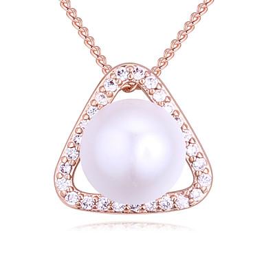 f6eb5f4ae429 Mujer Zirconia Cúbica diamante pequeño Geométrico Collares con colgantes  damas Simple Europeo Moda Dorado Plata Oro Rosa 40 cm Gargantillas Joyas  Para ...