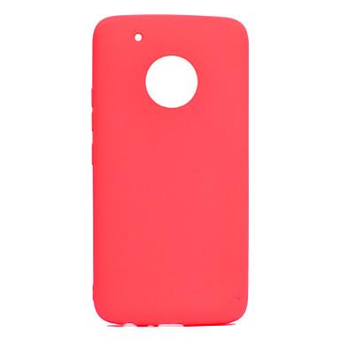 Недорогие Чехлы и кейсы для Motorola-Кейс для Назначение Motorola Мото G5 Plus / Moto G5 Ультратонкий Кейс на заднюю панель Однотонный Мягкий ТПУ