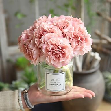 Недорогие Украшения для дома-Искусственные Цветы 5 Филиал Свадьба Свадебные цветы Пионы Букеты на стол