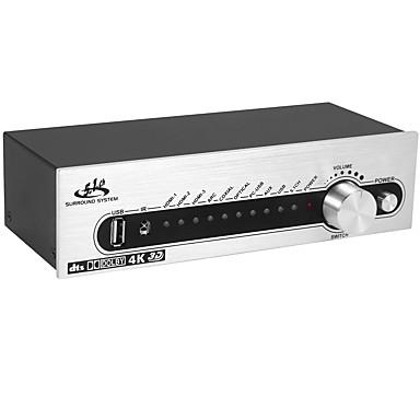 olcso Kábelek & adapterek-dts ac3 5.1 digitális audio dekóder átalakító 4k * 2k hdmi a hdmi kivezető kapcsoló 3x1 usb spdif optikai coxial arc ape flac