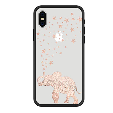 voordelige iPhone 8 hoesjes-hoesje Voor Apple iPhone X / iPhone 8 Plus / iPhone 8 Patroon Achterkant dier / Cartoon / Olifant Hard Acryl