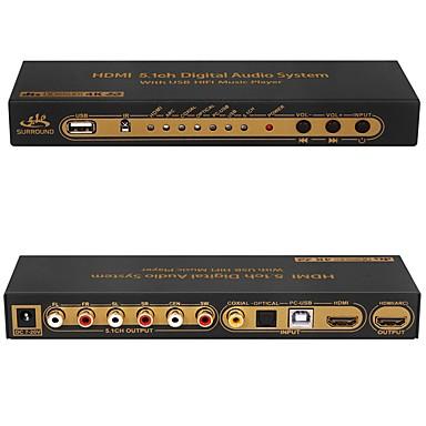 olcso Kábelek & adapterek-dts ac3 hdmi 5.1 digitális audio dekóder átalakító 4k * 2k hdmi a hdmi elszívó kapcsoló usb hifi spdif optikai coxial arc ape flac