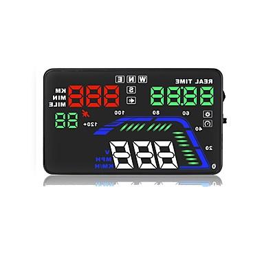 olcso HUD-Q7 5.6 hüvelyk LED Vezetékes LED kijelzős / Plug and play / Többfunkciós kijelző mert Autó / Busz / Kamion Vezetési sebesség