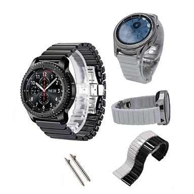 Недорогие Часы для Samsung-Ремешок для часов для Gear S3 Frontier / Gear S3 Classic Samsung Galaxy Спортивный ремешок Керамика Повязка на запястье