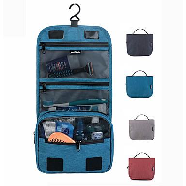 billige Rejsetasker-Rejsearrangør Kosmetik Taske Rejsetoilettaske Stor kapacitet Vandtæt Opbevaring under rejser Hængende PVC PU Til Rejse Baggage / Holdbar