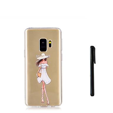 povoljno Maske/futrole za Galaxy S seriju-Θήκη Za Samsung Galaxy S9 / S9 Plus / S8 Plus Translucent Stražnja maska Seksi dama Mekano TPU