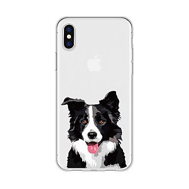 voordelige iPhone 6 Plus hoesjes-hoesje Voor Apple iPhone X / iPhone 8 Plus / iPhone 8 Patroon Achterkant Hond / dier / Cartoon Zacht TPU