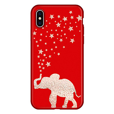 voordelige iPhone 8 hoesjes-hoesje Voor Apple iPhone XS / iPhone XR / iPhone XS Max Patroon Achterkant Cartoon / Olifant Zacht TPU
