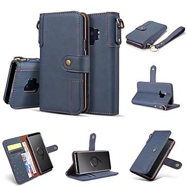 voordelige Galaxy S-serie hoesjes / covers-hoesje Voor Samsung Galaxy S9 / S9 Plus / S8 Plus Portemonnee / Kaarthouder / Flip Volledig hoesje Effen Hard PU-nahka