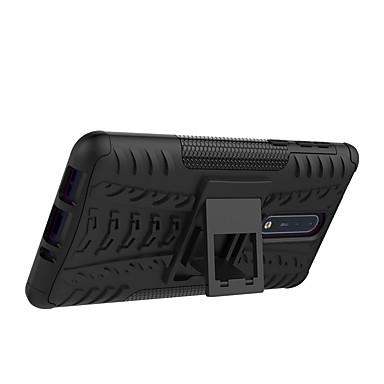 Недорогие Чехлы и кейсы для Nokia-Кейс для Назначение Nokia Nokia 8 / Nokia 6 / Nokia 5 Защита от удара / со стендом / броня Кейс на заднюю панель Плитка / броня Твердый ПК