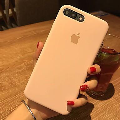 Недорогие Кейсы для iPhone 6 Plus-Кейс для Назначение Apple iPhone X / iPhone 8 Pluss / iPhone 8 Защита от удара Кейс на заднюю панель Однотонный Твердый Кожа PU