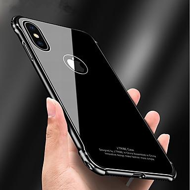 Недорогие Кейсы для iPhone X-Кейс для Назначение Apple iPhone X / iPhone 8 Pluss / iPhone 8 Защита от удара / Зеркальная поверхность / броня Кейс на заднюю панель броня Твердый Металл