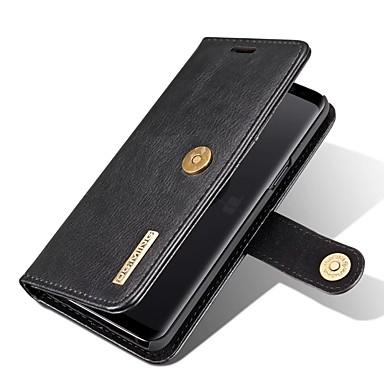 levne Galaxy S pouzdra / obaly-Carcasă Pro Samsung Galaxy S9 Peněženka / Pouzdro na karty / se stojánkem Celý kryt Jednobarevné Pevné Pravá kůže