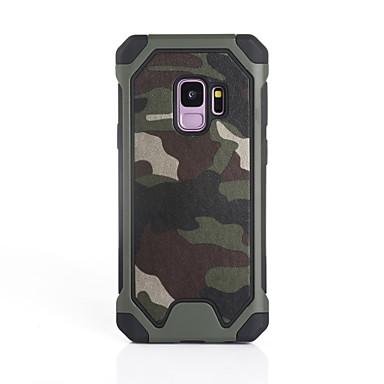 voordelige Galaxy S-serie hoesjes / covers-hoesje Voor Samsung Galaxy S9 / S9 Plus / S8 Plus Schokbestendig Achterkant Camouflage Kleur Zacht Siliconen