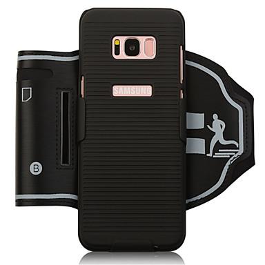 hoesje Voor Samsung Galaxy S8 Plus / S8 SportArmband / Kaarthouder / Schokbestendig Armband Effen Zacht PC