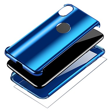 voordelige iPhone 6 Plus hoesjes-hoesje Voor Apple iPhone X / iPhone 8 Plus / iPhone 8 Beplating / Ringhouder Volledig hoesje Effen Hard PC