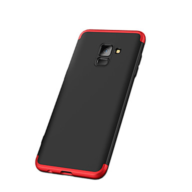 Недорогие Чехлы и кейсы для Galaxy А-Кейс для Назначение SSamsung Galaxy A8+ 2018 Защита от удара / Матовое Кейс на заднюю панель Однотонный Твердый ПК