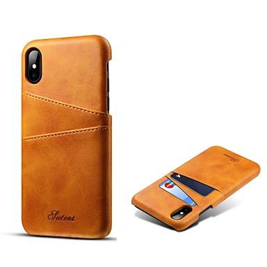 voordelige iPhone-hoesjes-hoesje Voor Apple iPhone XS / iPhone XR / iPhone XS Max Kaarthouder Achterkant Effen Hard aitoa nahkaa