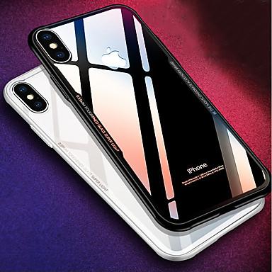 voordelige iPhone 5 hoesjes-hoesje Voor Apple iPhone X / iPhone 8 Plus / iPhone 8 Schokbestendig / Spiegel Achterkant Effen Hard Siliconen