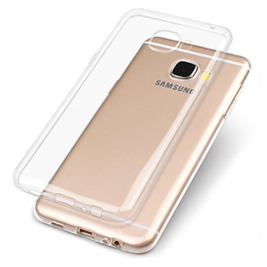 cheap Galaxy A3 Cases / Covers-Case For Samsung Galaxy A3(2017) / A5(2017) / A7(2017) Transparent Back Cover Solid Colored Soft TPU