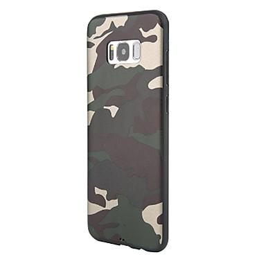 voordelige Galaxy S-serie hoesjes / covers-hoesje Voor Samsung Galaxy S8 Plus / S8 Mat Achterkant Camouflage Kleur Zacht TPU